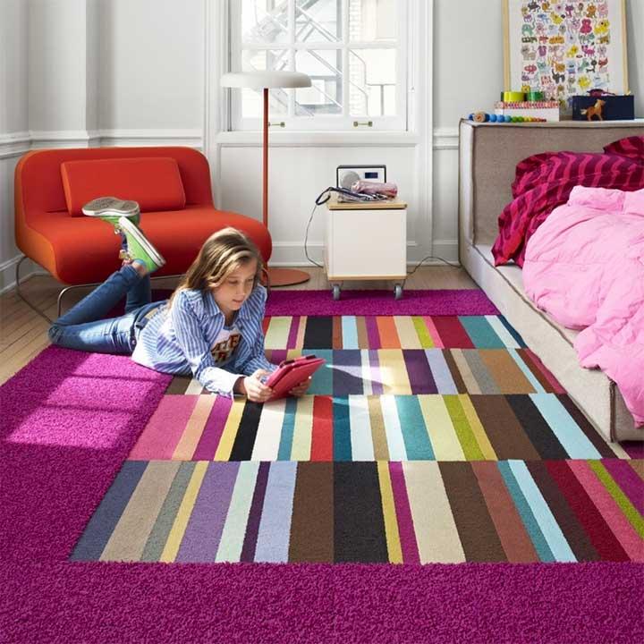 stylish striped carpet