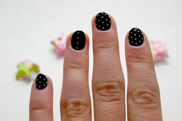 how to make polka dots with nail polish