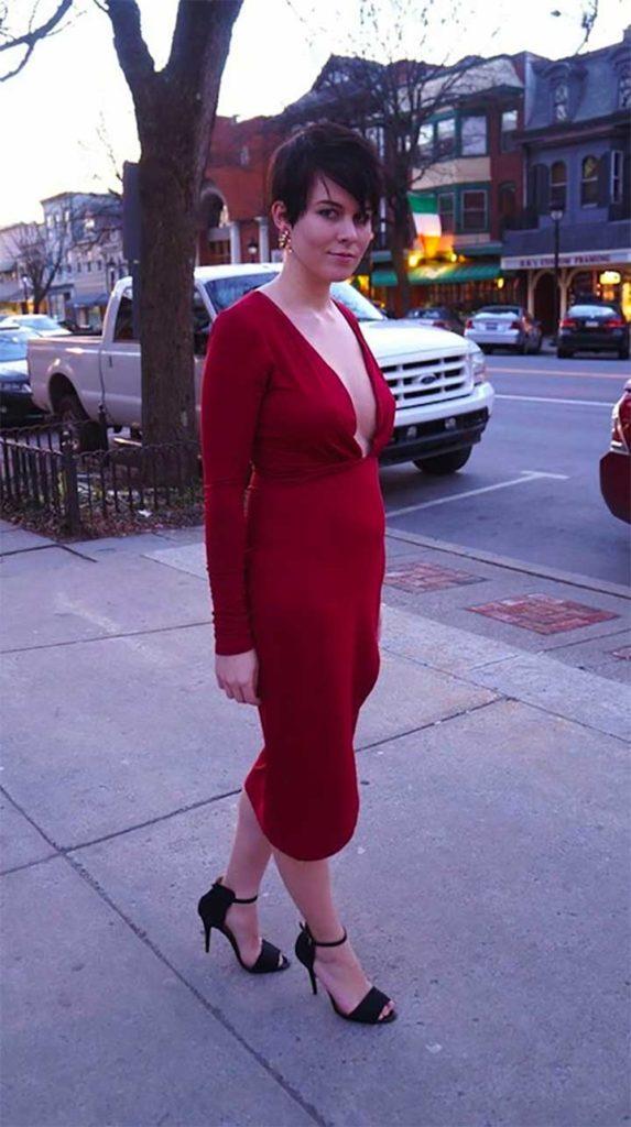 plunging neckline maxi dress