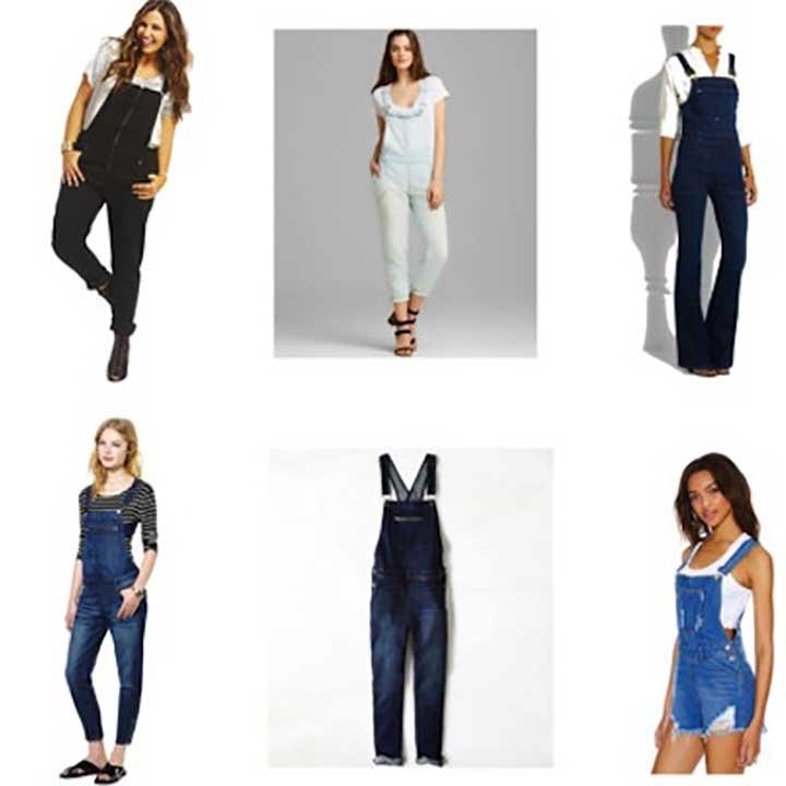 women's denim overalls